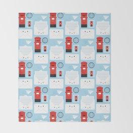 Happy Mail - Kawaii Post Throw Blanket