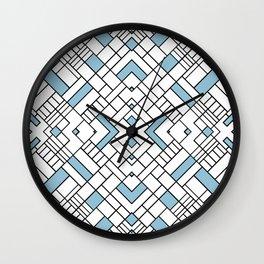 PS Grid 45 Sky Blue Wall Clock
