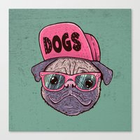 dogs Canvas Prints featuring Dogs by Lime