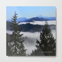 Bird's eye view of Mount Lassen.... Metal Print
