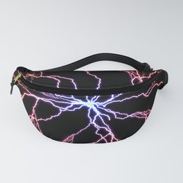 Electrical Lightning Discharge Blue to Red Fanny Pack