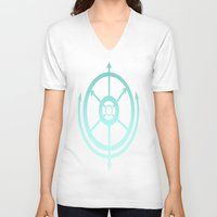 compass V-neck T-shirts featuring Compass by Carishinlove