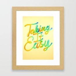Taking It Easy // Typography Framed Art Print