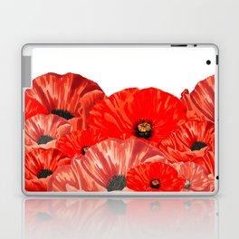 Poppies on White Laptop & iPad Skin