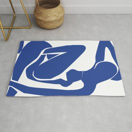 Matisse blue woman print, abstract woman print, matisse wall art, Abstract Modern Print, Rug