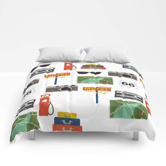 Travel Collage Comforters