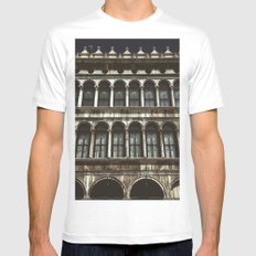 Facade on Piazza San Marco Mens Fitted Tee MEDIUM White