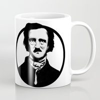 poe Mugs featuring Poe by Zombie Rust
