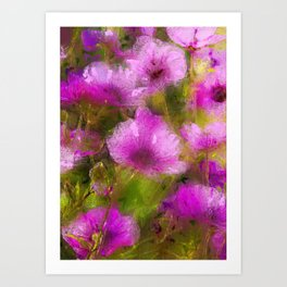 Purple Geraniums Art Print