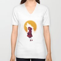 red riding hood V-neck T-shirts featuring Red Riding Hood by Blanca Limón
