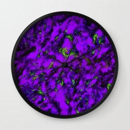 Fluttering purple Wall Clock