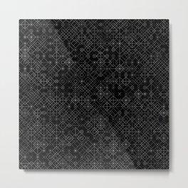 Black and White Overlap 1 Metal Print