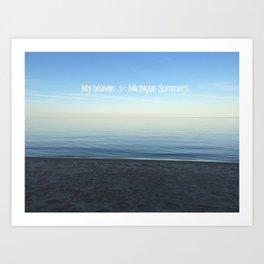 Michigan Summers Art Print