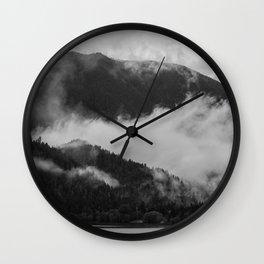 Fog X Crescent Lake Wall Clock