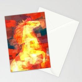 Mixed media  horse digital art Stationery Cards