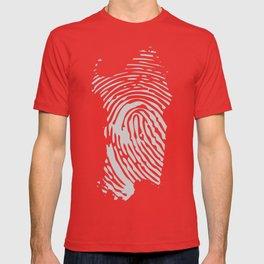 Sardinian fingerprint (black) T-shirt