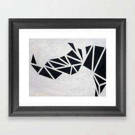 Geo Rhino (oil painting) Framed Art Print