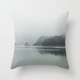 Fog - Landscape Photography Throw Pillow