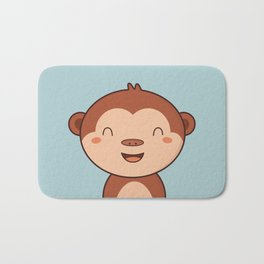 Kawaii Cute Monkey Bath Mat