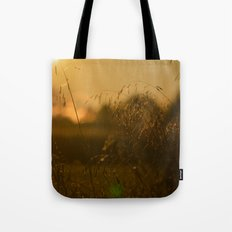 Delicate Grasses and Dew Tote Bag
