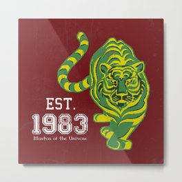 Battlecat - HeMan, 80's, Cartoon, Throw Back, Green Tiger Metal Print