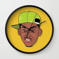 fresh prince Wall Clocks featuring Fresh Prince of Bel-Air by TheMohamz