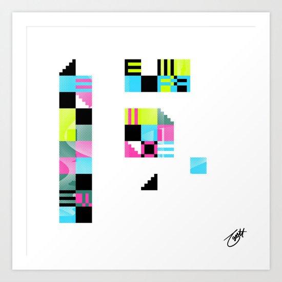 Something Other 4 On White Art Print