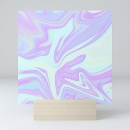 Unicorn Goo Liquid Holographic Texture Mini Art Print
