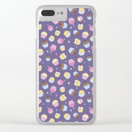 Sweet Purple Cupcakes Clear iPhone Case