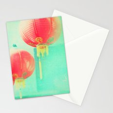 Red Paper Lanterns. Chinatown Los Angeles photograph Stationery Cards