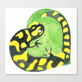 Salamander Heart Canvas Print