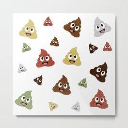 smiling pile of poop emoji Metal Print