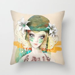 War girl Throw Pillow