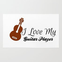 I Love My Guitar Player Rug