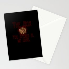Hellraiser The Box You Opened It Stationery Cards
