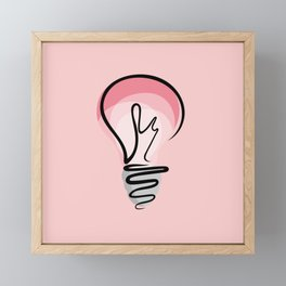 Pink Idea Framed Mini Art Print