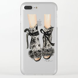 Designer Bridal Shoes Clear iPhone Case