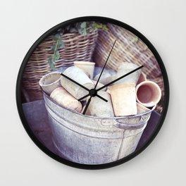 London Pots Wall Clock