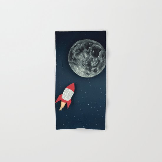 Rocket to the Moon Hand & Bath Towel