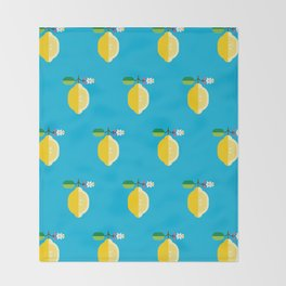 Fruit: Lemon Throw Blanket