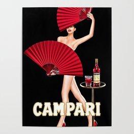 Vintage Bitter Campari Lithograph Advertisement Poster