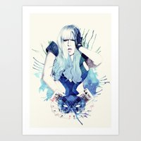 poker Art Prints featuring Poker Face by Mibou