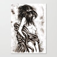 hentai Canvas Prints featuring Hentai by Vivian Volcano