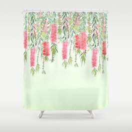 bottle brush tree flower Shower Curtain