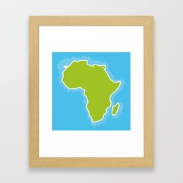 map of Africa Continent and blue Ocean. Vector illustration Framed Art Print