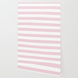 Pink Diamond (Ace Hardware Color) - solid color - white stripes pattern Wallpaper