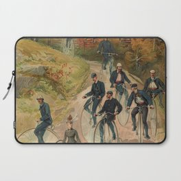 Vintage Bicycle Race 1800s Bike Riders Laptop Sleeve