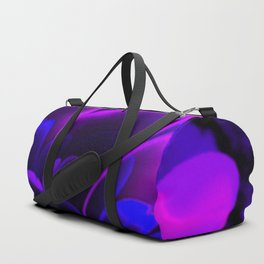 Stylized Half Flower Indigo Duffle Bag