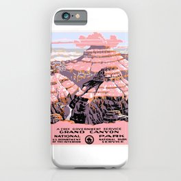 1938 Grand Canyon National Park Travel Poster iPhone Case