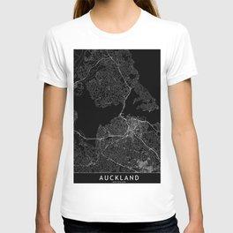Auckland Black Map T-shirt